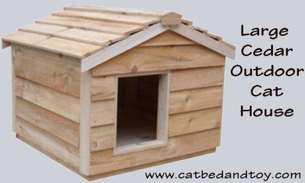 Large Cedar Outdoor Cat House